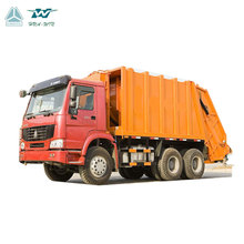 Sinotruk Howo 6x4 15-16CBM automatically compacting load transfer dump garbage truck with hydraulic lifting system
