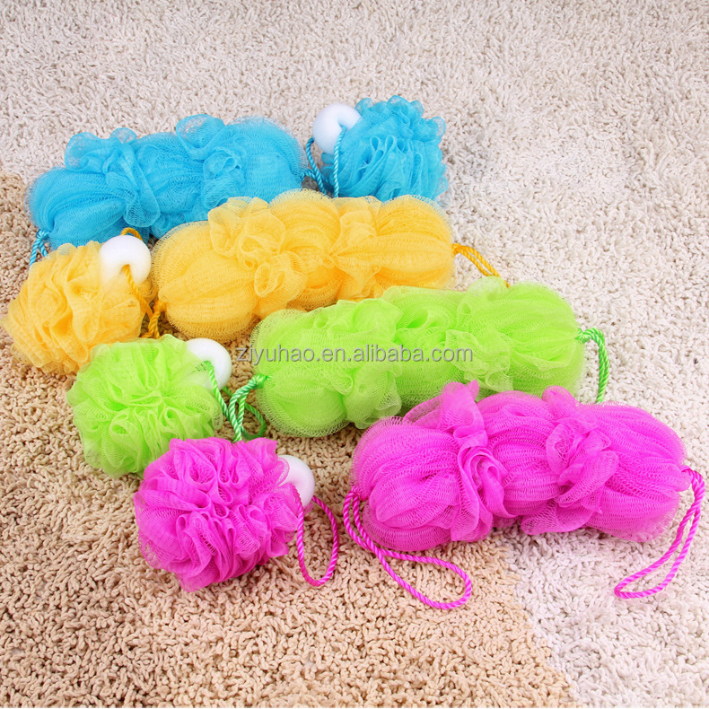 Promotional Cheap Soft Mesh Flower Sponge Back Scrubber Wholesale