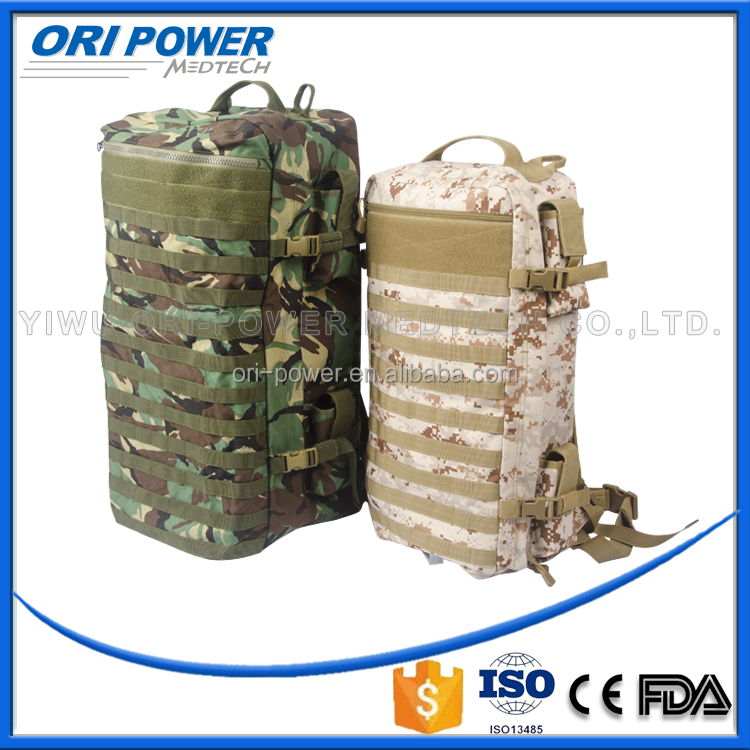 OP CE FDA ISO approved profession customized 1000Dnylon outdoor survival emergency backpack