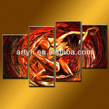 Latest designs handmade group people in paintings on canvas for decor