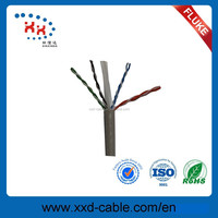 Strong PVC CCA 4*2*0.57mm RJ45 Twisted Pair UTP cat6 cable