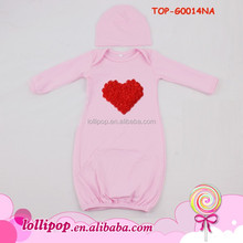 Picture Of Latest Gowns Design - Baby Hooded Custom Heart SleepwearTouched By Organic Cotton Baby Nightgown