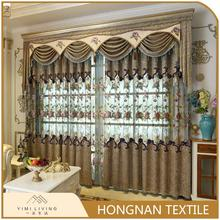 Best selling different kinds of nice embroidered fancy window curtain