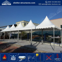 High quality newest arrival fireproof tent fabric fiberglass hardtop canopy farm tent