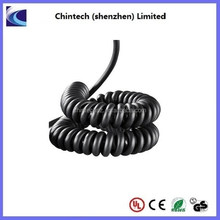 High flexibility and retractable PU spiral coil spring cable