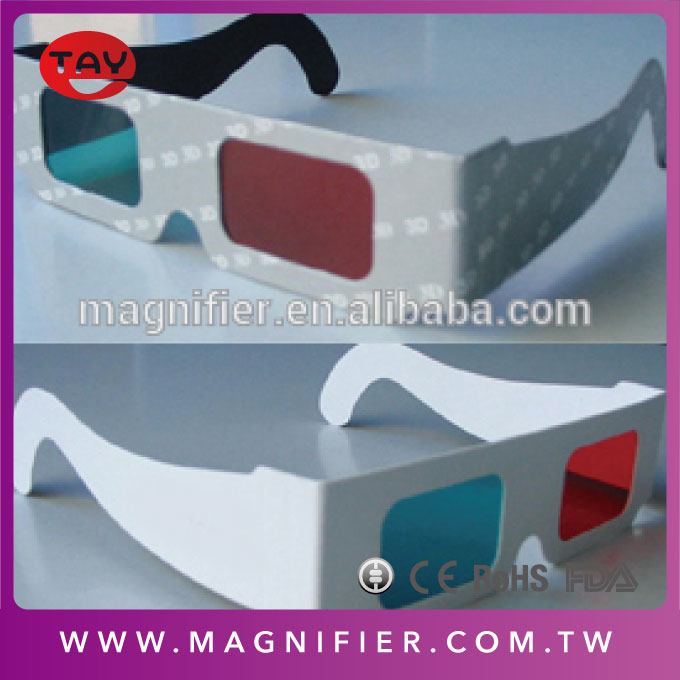 Buyer's logo printed custom red cyan 3d paper eclipse glasses