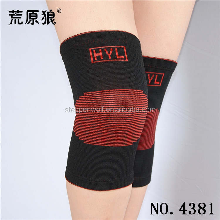 Compression Breathable elastic nylon knee sleeve support for keeping warm