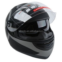 STAR MATTE BLACK DUAL VISOR FULL FACE MOTORCYCLE HELMET+SMOKE SUN SHIELD S M~XL