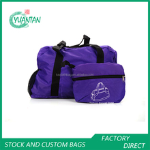 Hot sale many colors athletic sport duffle bag fold easy carry travel bag