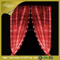 High Quality optic waterfall curtains Manufactured For Elegant Weddings Western Modern Luxury Square decoration curtains