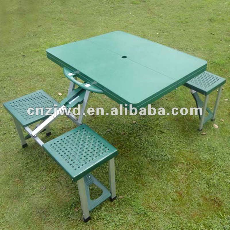 plastic Folding camping Table picnic Portable Table and 4 chair
