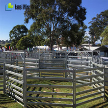 Pasture solidly corral steel gate galvanized fence panels