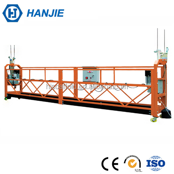 Building safety electric hoisting suspended gondola cleaning machine