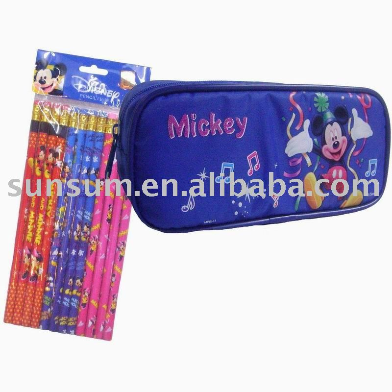 Mickey Mouse Pencil Case With Pack of Pencils