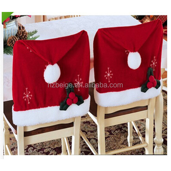 2016 new style Christmas Chair Covers Back Party Decorations Xmas Santa Hat