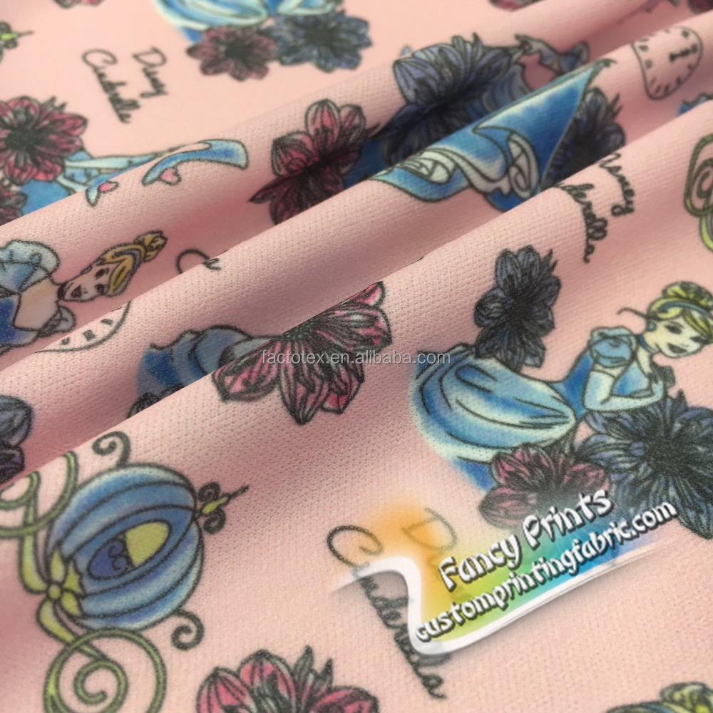 2017 Wholesale digital printing floral printed polyester spandex waterproof stretch satin woven fabric