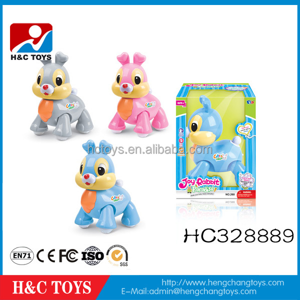 Most popular plastic walking animal toys music cartoon electronic rabbit toy HC328889