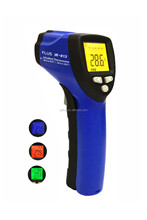 Infrared thermometer with four-color LCD indication