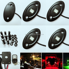 New Music controller 4pc 36RGB 12v led Lights RGB Truck Rock Lights/IP68 Jeep LED Rock Lights/LED offroad work Light