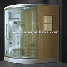 CE approved sauna steam room with shower room