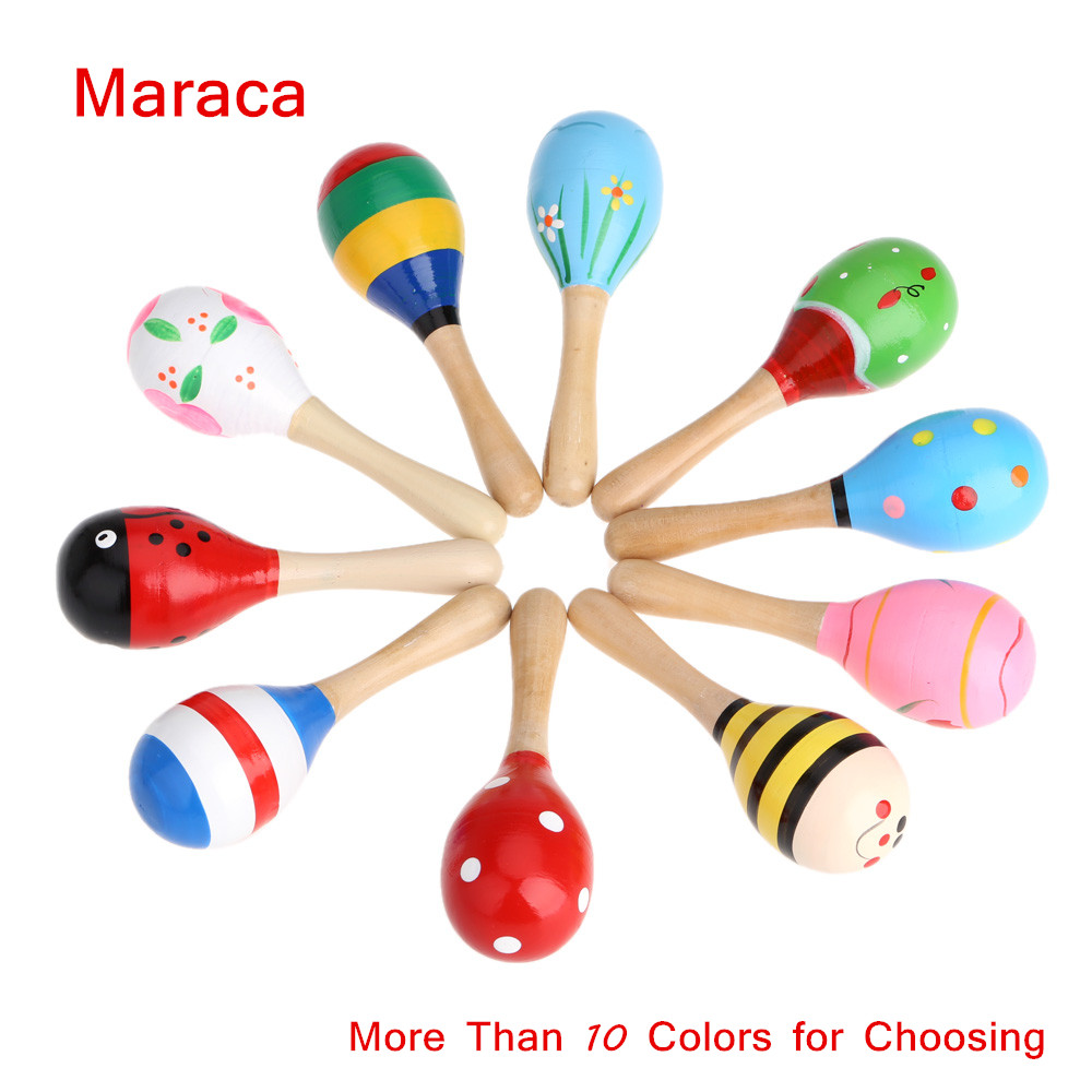 High Quality Musical Toy Maraca Wooden Percussion Instrument for KTV Party Kids Children Toy Musical Instrument