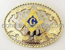 belt buckle custom low price Men gold belt buckle hot sales custom MASONIC Belt Buckle