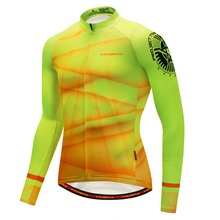 Cheap Sublimation Bike Wear long sleeve Cycling Jersey custom Mountain Bike Tops Breathable Cycling Shirt