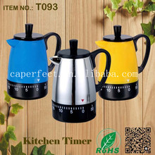 kitchen factory price stainless steel kettle shaped mechanical delay timer