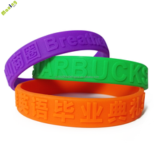 Holiday celebration custom ornaments Individualization embossed silicone bracelet with wristband