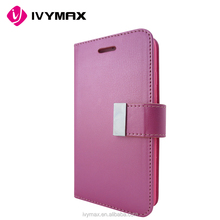 2016 Trending products Rich Diary Wallet Case Premium Soft Synthetic Leather Case With ID Credit Card Slots for Iphone 6