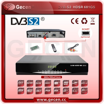 Zhuhai Gecen HDSR 681GS DVB-S2 set top box receiver