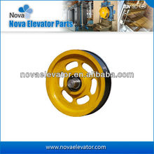 Elevator Parts Traction Sheave, Elevator Cast Iron Pulley Sheave, Rope Guide Sheaves