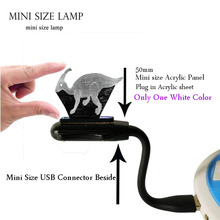 Novel Acrylic 3D Dinosaur Jurassic Park Parasaurolophus LED Mini Flexible USB laptop Desk Night Light Holiday Kids Gift