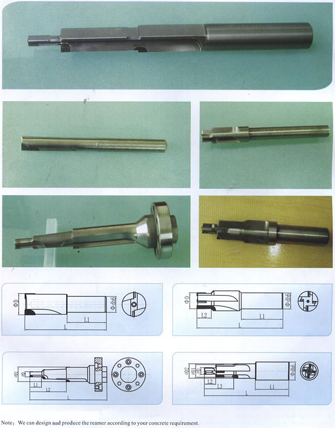 CNC Diamond Cutting Tools Adjustable PCD Reamer Cutting Tool