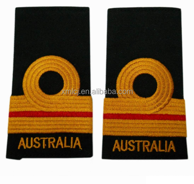 Factory directly produce rank epaulettes shoulder board military badge for sale