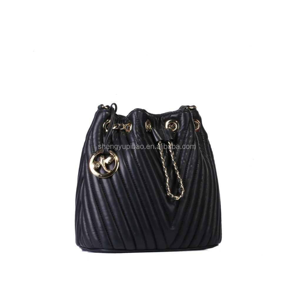 Wholesale Fashion Women Sling Soft Leather Bucket Bags