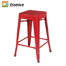 Most selling products square metal industrial bar height stool backless stool