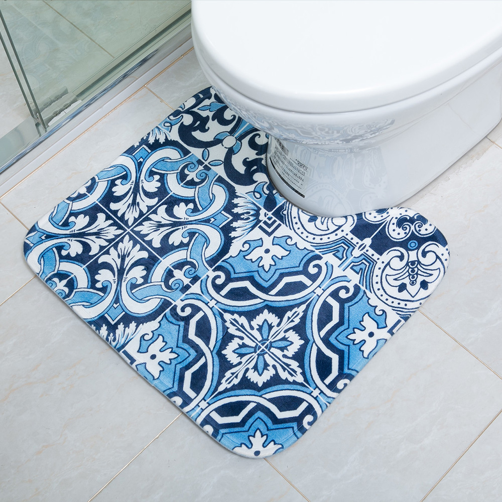 Machine Washing Absorbent Anti Slip Printed Memory Foam Bath Mat