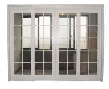 Best PVC White Lowes Door Grids Design Sliding Clear Glass Door