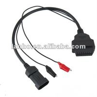 Fiat Alfa Lancia 3 Pin Male To 16 Pin OBD2 OBDII Female Adapter Cable Diagnostic
