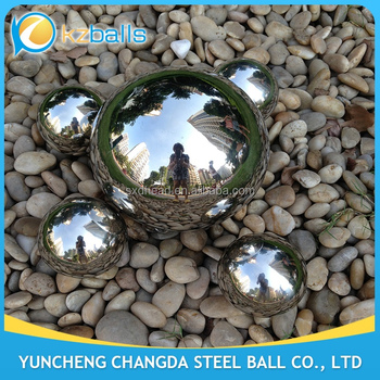 Factory Price Outdoor Mirror Finished 304 Stainless Steel Hollow Ball