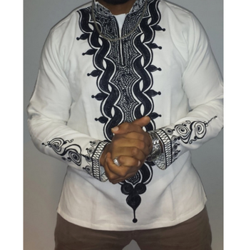 X85878A Fashion africa printed latest new model casual shirt for men blouse shirts