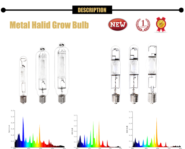 EURO Hydroponics 400W 600W 1000W Metal Halide Grow Light Lamps