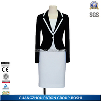 Women office suit jacket and skirt fancy suits blazer china