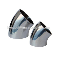 2017 New design stainless steel butt weld pipe fitting 45 degree elbow with good quality