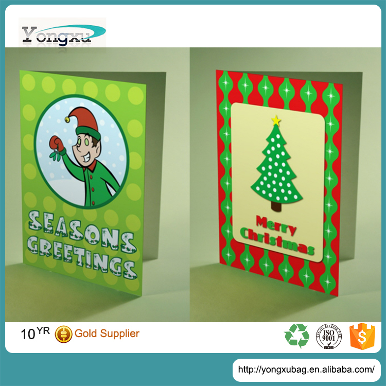 free sample wholesale custom print mini chirstmas greeting card for gifts