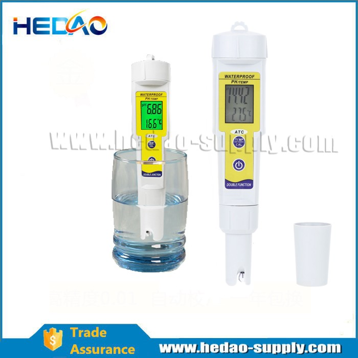 waterproof pocket pH meter with temperature display www googl com