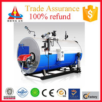 CE ISO BV certificate factory price trade assurance fire tube fired-gas steam boiler machine