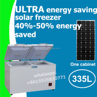 335L solar deep freezer fridge 12V 24V solar freezer fridge with 110mm insulation