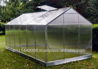 Hobby greenhouse from aluminum and polycarbonate